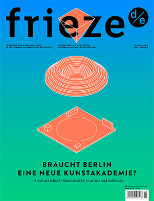 Frieze d-e Issue9_Cover_Miessen_neu